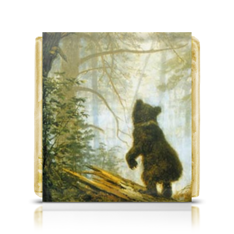 Шоколадка 35х35 Printio Мишки в сосновом бору картины постеры гобелены панно картины в квартиру картина бесконечность линий 35х35 см