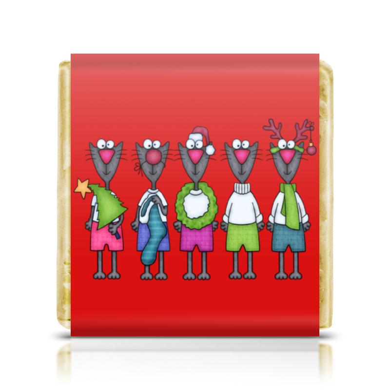 Шоколадка 3,5×3,5 см Printio Новогодние