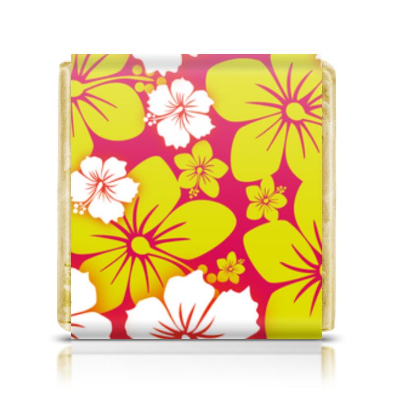 все цены на Шоколадка 3,5×3,5 см Printio Цветочная онлайн