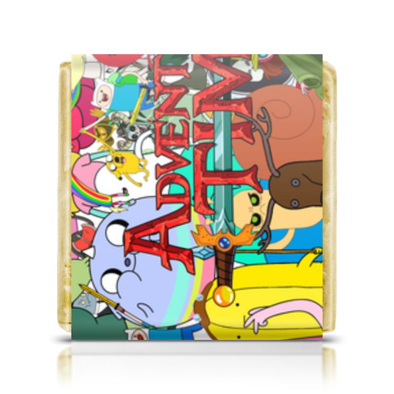 Шоколадка 35х35 Printio Adventure time adventure time headphones