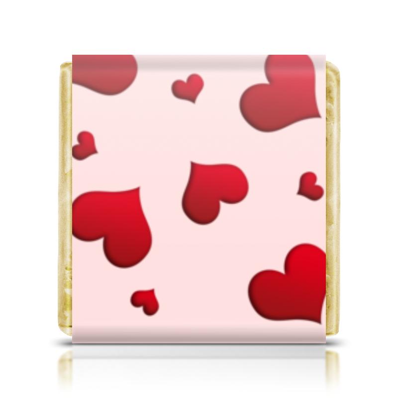 Шоколадка 3,5×3,5 см Printio Сердечки монетный двор сердечки набор молочный шоколад 75 г