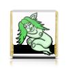 """Шоколадка 3,5×3,5 см """"Дремлющая троллита"""" - девушка, сон, тролль, графика, мифические существа"""