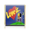 """Шоколадка 3,5×3,5 см """"Love is..."""" - любовь, love is, романтика, поцелуй"""