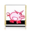 """Шоколадка 3,5×3,5 см """"Розовый поросенок"""" - арт, счастье, малыш, свин, розовый поросенок"""