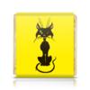 """Шоколадка 35х35 """"Черный кот"""" - кот, глаза, черный, зеленые, животное"""