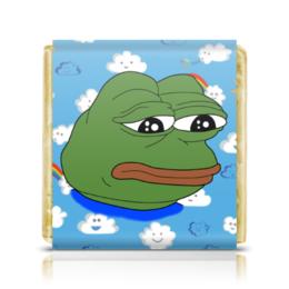 "Шоколадка 3,5×3,5 см ""Pepe Frog"" - мем, meme, грустная лягушка, sad frog, pepe frog"