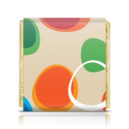 """Шоколадка 35х35 """"Цветная абстракция"""" - узор, стиль, рисунок, абстракция, абстрактный"""