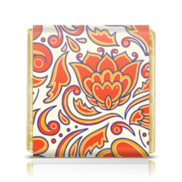 """Шоколадка 35х35 """"Узорный"""" - узор, стиль, рисунок, орнамент, абстрактный"""