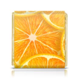 """Шоколадка 3,5×3,5 см """"Апельсины"""" - рождество, апельсины, merry christmas, новогодний подарок, 2017"""