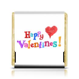 """Шоколадка 3,5×3,5 см """"День св. Валентина"""" - 14 февраля, день влюбленных"""