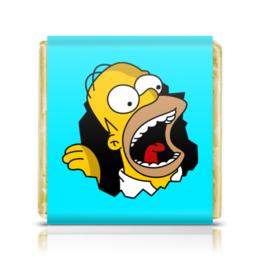 """Шоколадка 35х35 """"Гомер Симпсон"""" - simpsons, homer, прикольные, гомер симпсон, симпспоны"""