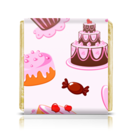 """Шоколадка 35х35 """"Кондитерская"""" - сладости, конфета, пирожное, мафин, кондитерский"""