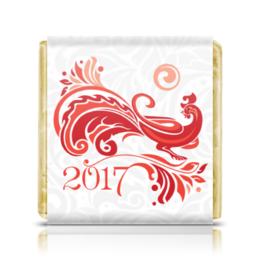 """Шоколадка 35х35 """"Петушок 2017"""" - новый год, рисунок, символ года, new year"""