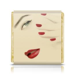 """Шоколадка 3,5×3,5 см """"Салон красоты (50 шт.)"""" - праздник, девушка, 8 марта, работа, подарок"""