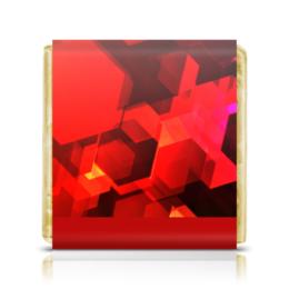 """Шоколадка 35х35 """"Шестиугольники"""" - узор, оригинальный, цветной, геометрический, многоугольники"""