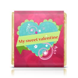 "Шоколадка 35х35 ""День святого Валентина"" - 14 февраля, день святого валентина, любовь, сердца"