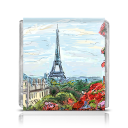 """Шоколадка 3,5×3,5 см """"Эйфелева башня"""" - графика, франция, париж, эйфелева башня"""