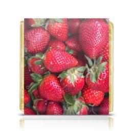 """Шоколадка 3,5×3,5 см """"Лето!"""" - лето, фрукты, клубника, земляника, виктория"""