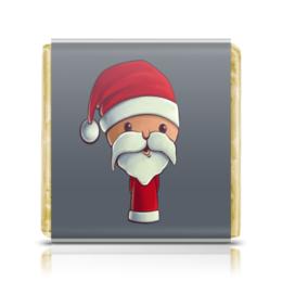 """Шоколадка 35х35 """"Дед мороз"""" - праздник, новый год, дед мороз"""