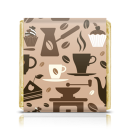 """Шоколадка 35х35 """"Кофейная"""" - чашка, сладости, чай, кофе, пирожное"""