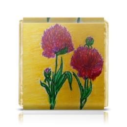 """Шоколадка 3,5×3,5 см """"Пионы"""" - цветы, пионы"""