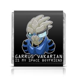 """Шоколадка 3,5×3,5 см """"Mass effect (Garrus Vakarian)"""" - арт, mass effect, garrus"""