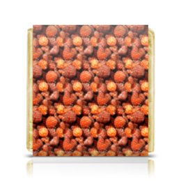 """Шоколадка 3,5×3,5 см """"Дикая малина"""" - ягоды, малина, сладкий, аромат"""