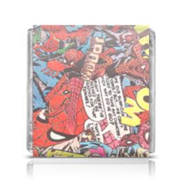 "Шоколадка 35х35 ""Spider man"" - comics, marvel, spiderman"