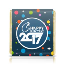 "Шоколадка 35х35 ""Happy New Year 2017"" - новый год, new year, нг, 2017"