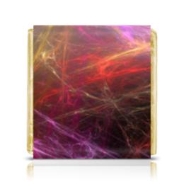 """Шоколадка 35х35 """"Абстрактный дизайн"""" - графика, абстракция, авангард, линии, лучи"""