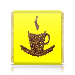 "Шоколадка 35х35 ""Бодрящий напиток"" - напиток, кофе, чашки, эспрессо"