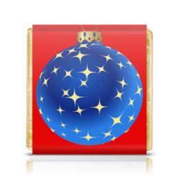 """Шоколадка 35х35 """"Елочная игрушка"""" - праздник, новый год, дед мороз, игрушка, елка"""