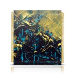 """Шоколадка 3,5×3,5 см """"Abstract"""" - картина, разводы, абстракция, живопись, флюид"""