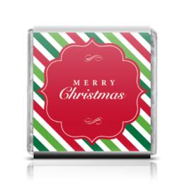 """Шоколадка 35х35 """"Merry Christmas"""" - с новым годом, новогодние, merry christmas"""
