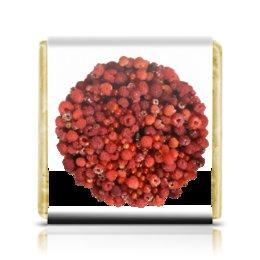 """Шоколадка 3,5×3,5 см """"Дикая малина"""" - красный, ягоды, малина, сладкий, аромат"""