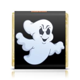 """Шоколадка 35х35 """"Призрак"""" - праздник, хэллоуин, необычная, привидение"""