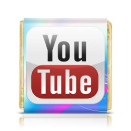 """Шоколадка 3,5×3,5 см """"YouTube"""" - youtube, ютуб"""