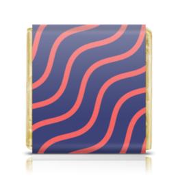 """Шоколадка 35х35 """"Волнистый"""" - узор, рисунок, стильный, полосатый, волнистый"""