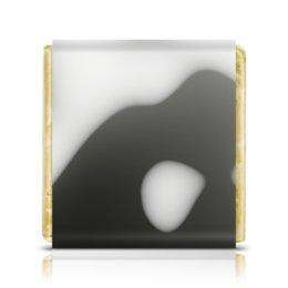 """Шоколадка 3,5×3,5 см """"Сияние"""" - узор, абстракция, волны, блики, блеск"""