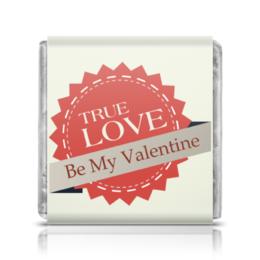 """Шоколадка 3,5×3,5 см """"День святого Валентина"""" - любовь, день святого валентина, 14 февраля"""