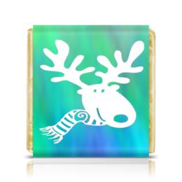 """Шоколадка 35х35 """"Олень"""" - новый год, зима, олень"""