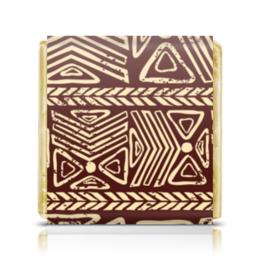 """Шоколадка 3,5×3,5 см """"Абстрактная"""" - узор, стиль, рисунок, абстракция, абстрактный"""