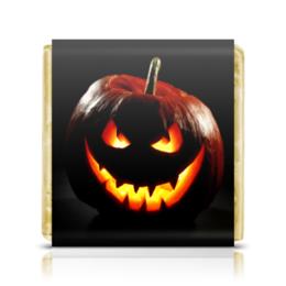 """Шоколадка 35х35 """"pumpkin"""" - праздник, хэллоуин, интересная, тыква, необычная"""