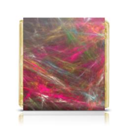 """Шоколадка 35х35 """"Абстрактный дизайн"""" - графика, абстракция, линии, лучи, авангард"""