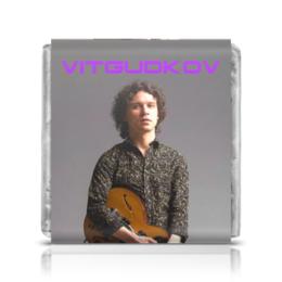 "Шоколадка 35х35 ""Vitgudkov"" - музыка, music, rock, день рождения, rock and roll"