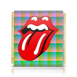 """Шоколадка 3,5×3,5 см """"The Rolling Stones"""" - музыка, music, рок, rock, the rolling stones"""