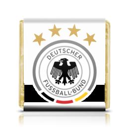 """Шоколадка 35х35 """"Сборная Германии"""" - футбол, германия, сборная германии по футболу, сборная германии"""
