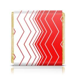 """Шоколадка 3,5×3,5 см """"Вибрация, с выбором цвета"""" - волна, абстракция, волны, линии, вибрация"""
