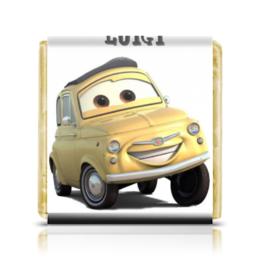 "Шоколадка 35х35 ""Luigi"" - тачки, гонки, мульт, luigi, наскар"