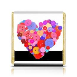 """Шоколадка 3,5×3,5 см """"День всех влюбленных"""" - любовь, день святого валентина, валентинка, i love you, день влюбленных"""